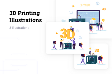 3D Printing Illustration Pack