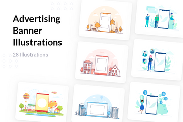 Advertising Banner Illustration Pack