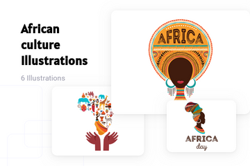 African Culture Illustration Pack