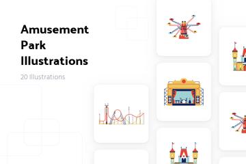 Amusement Park Illustration Pack
