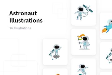 Astronaut Illustration Pack