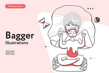 Bagger Illustration Pack