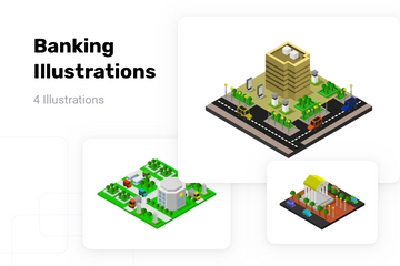 Banking Illustration Pack