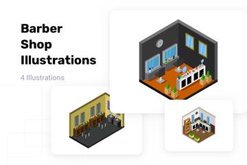 Barber Shop Illustration Pack