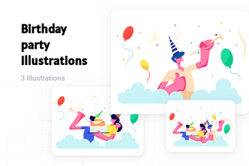 Birthday Party Illustration Pack