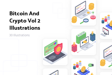 Bitcoin And Crypto Vol 2 Illustration Pack