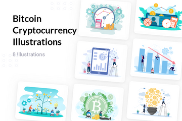 Bitcoin Cryptocurrency Illustration Pack