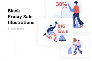 Black Friday Sale Illustration Pack