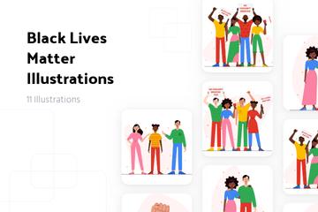 Black Lives Matter Illustration Pack