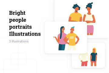 Bright People Portraits Illustration Pack