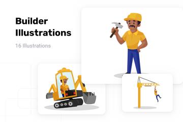 Builder Illustration Pack