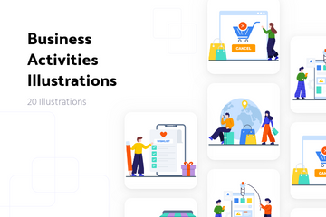 Business Activities Illustration Pack