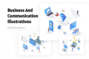 Business And Communication Illustration Pack