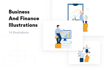 Business And Finance Illustration Pack