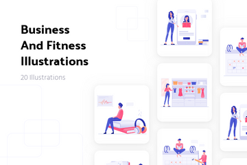 Business And Fitness Illustration Pack
