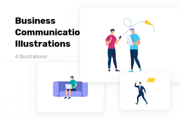 Business Communication Illustration Pack