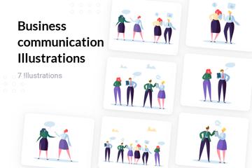 Business Communication Illustration Pack