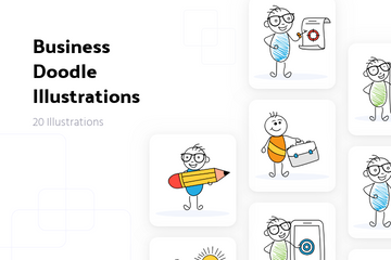Business Doodle Illustration Pack