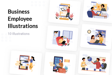 Business Employee Illustration Pack
