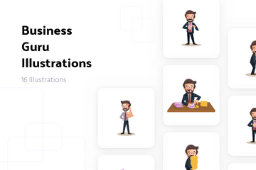 Business Guru Illustration Pack
