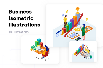 Business Isometric Illustration Pack