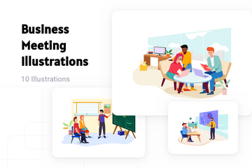Business Meeting Illustration Pack
