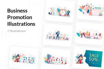 Business Promotion Illustration Pack