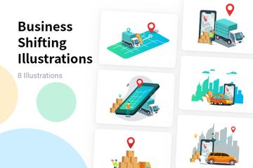 Business Shifting Illustration Pack