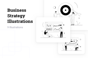 Business Strategy Illustration Pack