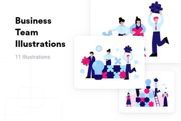 Business Team Illustration Pack