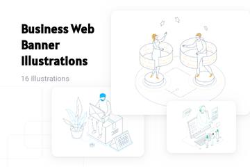 Business Web Banner Illustration Pack