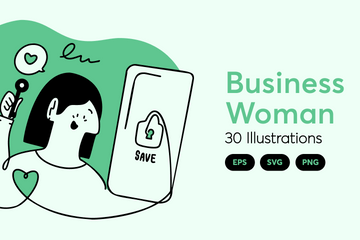 Business Woman Illustration Pack