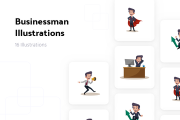 Businessman Illustration Pack