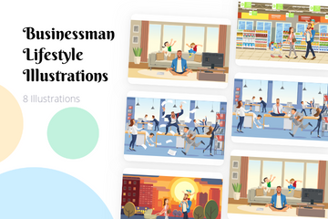 Businessman Lifestyle Illustration Pack