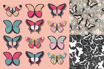 Butterflies Illustration Pack