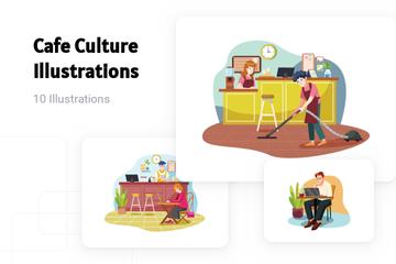 Cafe Culture Illustration Pack
