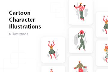 Cartoon Character Illustration Pack