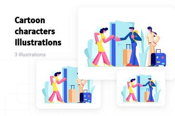 Cartoon Characters Illustration Pack