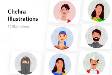 Chehra Illustration Pack
