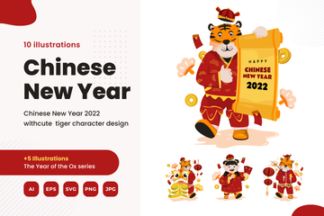 Chinese New Year 2021 Illustration Pack