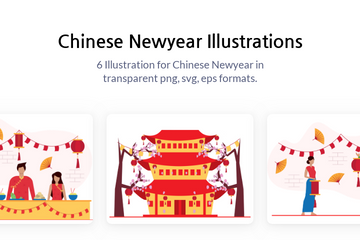 Chinese Newyear Illustration Pack