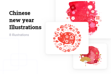 Chinese New Year Illustration Pack