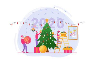 Christmas And New Year 2020 Illustration Pack