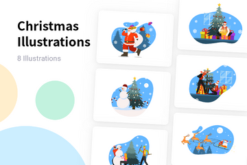 Christmas Celebration Illustration Pack