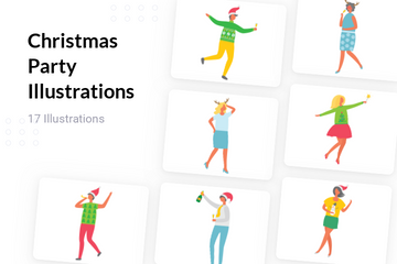 Christmas Party Illustration Pack