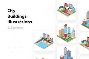 City Buildings Illustration Pack