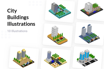 City Buildings Illustration Pack