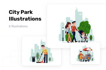 City Park Illustration Pack