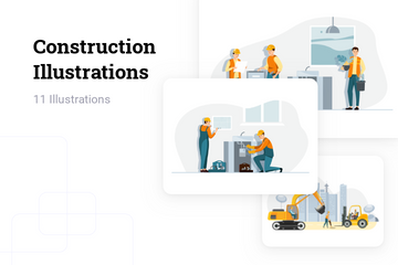 Construction Illustration Pack
