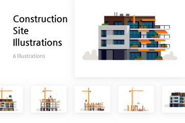 Construction Site Illustration Pack